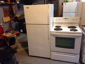 Whirlpool fridge AND Easy Clean stove