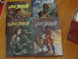 JACK SPARROW--LOT (4 ) PIRATES CARAÏBES--       de  ROB KIDD