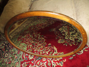 Antique Bevelled Mirror - Oval