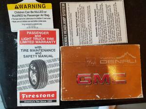 1999 GMC Yukon Denali Owners Manual +
