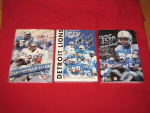3 Detroit Lions media guides (1994, 1995 and 1996)