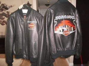 Two Harley Davidson zipper up front full leather embroid jackets