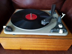 Dual Turntable Record Player
