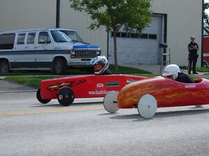 2 Soap Box Derby Cars Bundle With Extra Wheels