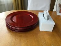 Spectrum Red Charger Plate from Dunelm