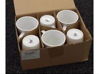 New boxed unused 6 mugs/cups set