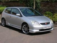 52 REG HONDA CIVIC 2.0 TYPE R, 6 SPEED, 1 YEAR MOT, AA WARRANTY