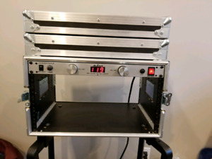 6U Rack Roadcase, power conditioner, legs