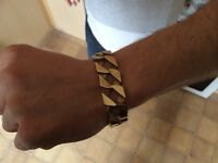 9 carat gold man's bracelet