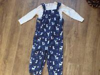 John Lewis baby animal dungaree set 2 - 3 years