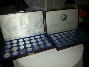 1976 - 28 pc Silver Olympic Coin Sets
