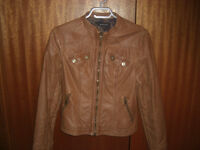 Ladies faux leather jackets size Small and Medium