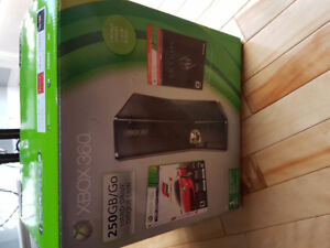 Xbox 360 250 Gb with Headset, controllers and Games