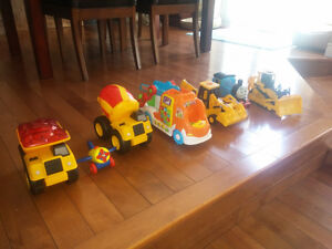 CONSTRUCTION TRUCK TOYS AND OTHER TOYS