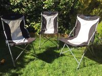 Set of 3 folding chairs