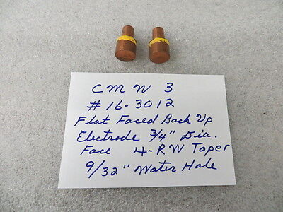 Flat Faced Back Up Style 4 Rw Spot Welding Electrode Tips New 2 Pcs