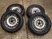 VW Caddy van steel wheels