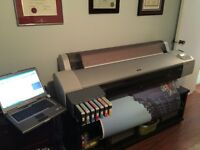 Epson 9600 wide format printer for sale with loads of media