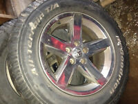 20 inch dodge rim with tires