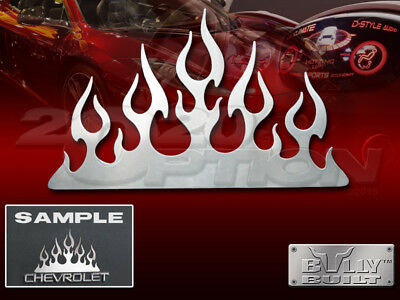 STAINLESS STEEL FLAME TRIBAL FLAME EMBLEM LOGO TRIM UNIVERSAL