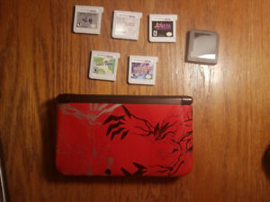 NINTENDO 3DS XL Red Limited Edition Pokemon Y & X WITH GAMES