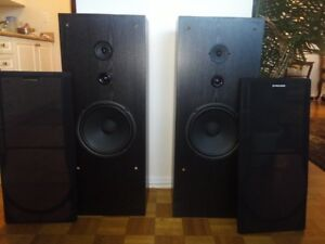 Pioneer 3 way tower speakers $55
