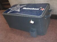 Wicker Ice Chest Portable Patio Party Tailgate Drink 80Qt Cooler