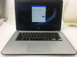 "Black HP 14-in Chromebook 14"" SMB 16GB SSD Laptop Notebook"