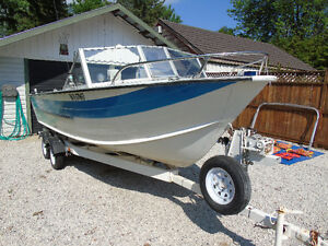 1969 STARCRAFT 18 Foot Inboard/outboard Aluminum Boat & Trailer