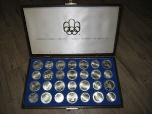1976 Montreal Olympics Full 28 Coin Sterling Silver Set in Case