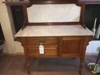 Marble Top Victorian Wash Stand / Sideboard with Drawers - CAN DELIVEz