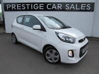 2015 Kia Picanto 1.0 1 3dr Petrol white Manual