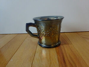 Fenton Orange Tree Carnival Glass Mug