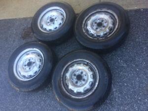 "4x matching 13"" chrome wheels and All Season Tires (60%) Mazda"