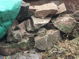 Free bolders and bricks - ideal for a rockery
