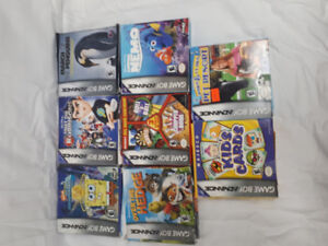 8 Gameboy Advanced Complete in Box Games