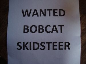 WANTED BOBCAT T110 TRACK MACHINE