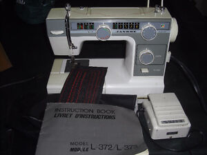 Janome Sewing Machine, with Manual, and Cover