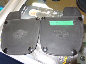 Harley leather covers for lowers-  recycledgear.ca