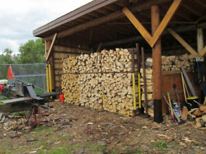 Short box full of premium dry split  pine firewood for $85