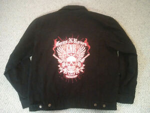 GN'R Guns & Roses Black Large Embroidered Denim Jacket Prince George British Columbia image 4