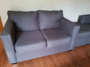 Corner couch and love seat