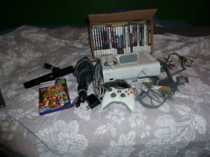 XBOX 360 WITH KENET AND LOTS OF OLDER GAMES