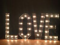 Love Wedding Marquee Sign