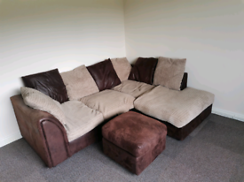 Corner sofa and foot rest