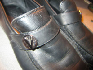 Gianni Versace Collection Black Leather Loafers  Shoes  Italy