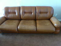 Old leather couch