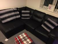 Brand new left hand facing leather sofa for sale
