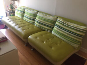 Selling 2 matching sofas (1 seater and 3 seater) *good condition