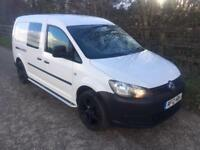2012 12 Volkswagen Caddy Maxi 1.6TDI 102PS C20 Combi Crew Van High Spec